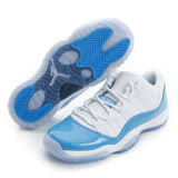 NIKE 大童鞋 籃球鞋 藍白 AIR JORDAN 11 RETRO LOWBG - 528896106