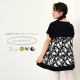 日本ANNA LUNA 預購-簡約碎花圖樣不對稱上衣(共三色/M-L)