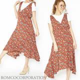 日本ANNA LUNA 預購-花梗V領肩綁帶洋裝(共四色/M)