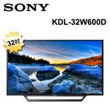 SONY 32型LED智慧型液晶電視KDL-32W600D
