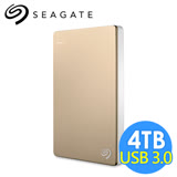 希捷 Seagate Backup Plus Portable 4TB 2.5吋行動硬碟 STDR4000405 金色