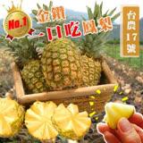 【果之蔬】大規格爆汁台南金鑽鳳梨【1箱2支約5台斤】