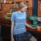 【克萊亞KERAIA】棉柔側釦百搭條紋上衣