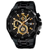 CASIO 卡西歐 EDIFICE 日系經典三眼賽車錶 EFR-539BK-1A