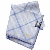 DAKS 英倫斜格大款帕領巾(淺藍色)