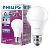 飛利浦LED廣角燈泡全電壓VI-黃光(8W)