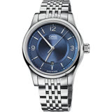 Oris豪利時 Classic Date 經典機械錶-藍/42mm 0173375944035-0782061