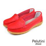 【Pelutini】donna蝴蝶結壓花休閒鞋 紅色(W097-RE)