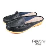 【Pelutini】donna透氣輕便穆勒鞋 黑色(W112-BL)