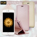AISURE Apple iPhone 6 / 6s Plus 5.5吋 水漾碳纖紋皮套