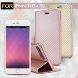AISURE Apple iPhone 7 / i7 4.7吋 水漾碳纖紋皮套