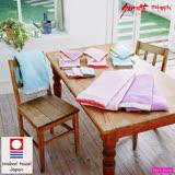 【クロワッサン科羅沙】日本ISSO ECCO今治(imabari towel)~無撚雙面色波點花邊方巾 34x35