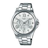 CASIO 卡西歐 SHEEN 施華洛世奇 不鏽鋼錶帶女錶 SHE-3806D-7A