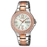 CASIO 卡西歐 SHEEN 日系經典款-玫瑰金 施華洛世奇晶鑽女錶 SHE-4800SG-7A