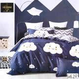 【I-JIA Bedding】朵朵小語CF211-韓國風格純棉床包兩用被組四件組-雙人