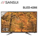 【SANSUI 山水】42型LED多媒體液晶顯示器+數位視訊盒(SLED-4266) ◆加贈雙人牌指甲鉗