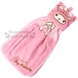 〔小禮堂〕美樂蒂 擦手巾《粉.大臉.LOGO》雙面雙層設計