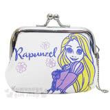 〔小禮堂〕迪士尼 魔髮奇緣 樂佩公主 帆布口金零錢包《S.白紫.花朵》