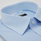 【金安德森】藍底變化領白點窄版短袖襯衫(品特)