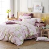 MONTAGUT-歐琪絲(紫)-200織紗精梳棉-鋪棉床罩組(雙人)