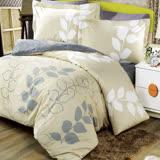【夢工場】溫潤織夏 精梳棉兩用被床包組-雙人