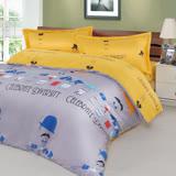 【夢工場】魔法寶瓶 精梳棉兩用被床包組-雙人