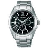 【SEIKO 精工】BRIGHTZ 黑色羅馬 商務旗鑑經典機械腕錶(40mm/6R21-00W0D)