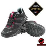 【瑞士 MAMMUT 長毛象】女新款 MTR 71 Low Gore Tex 防水透氣多功能運動休閒鞋.低筒健行鞋.登山鞋/Gripex鞋底/03050-00044 黑/洋紅