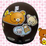 【KK 拉拉熊 鬆弛熊 安全帽】3/4罩 騎士帽│SAN-X 正版授權│Rilakkuma│日本超夯