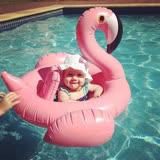 【PS Mall】寶寶游泳圈1-5歲充氣紅鶴火烈鳥遊泳圈 兒童救生圈 小孩坐騎嬰兒泳圈 (J2086)