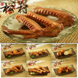 松村燻之味 任選7包特惠組( 鴨翅(辣)1包+雞翅(辣)1包+雞腳(辣)2包+雞脖子(辣)1包+豆干1包+燻滷蛋1包)