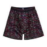 【sloggi men】Woven系列M-XL寬鬆平織四角男內褲(黑)