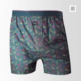 【sloggi men】Woven系列M-XL寬鬆平織四角男內褲(藍)