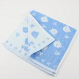 【愛的世界】MYBABY 無捻紗童巾/28*52CM-藍色