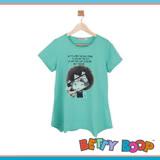 【Betty Boop貝蒂】自拍女孩棉質傘狀長版T恤(共二色)