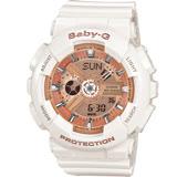 卡西歐 CASIO BABY-G 運動時尚腕錶 BA-110-7A1 橘x白