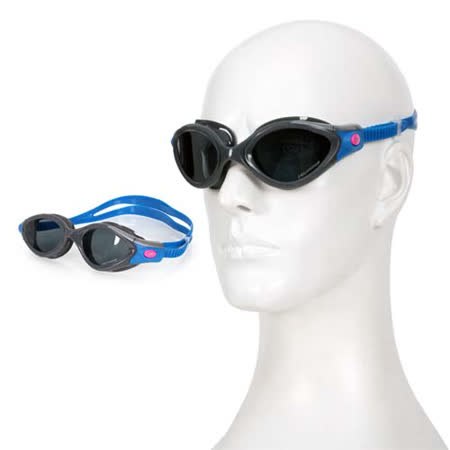 (女) SPEEDO FUTURA BIOFUSE成人用進階偏光泳鏡-蛙鏡 游泳 訓練 戲水 藍灰 F -friDay購物 x GoHappy