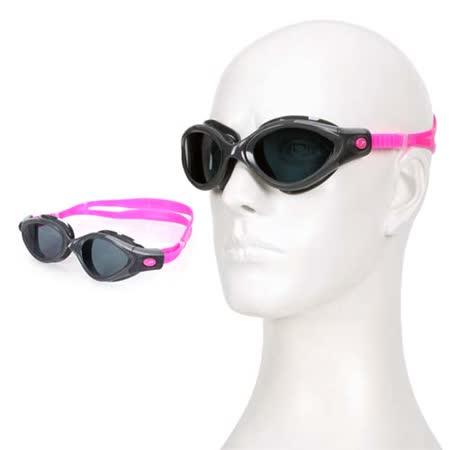 (女) SPEEDO FUTURA BIOFUSE成人用進階偏光泳鏡-蛙鏡 游泳 訓練 戲水 粉紅深灰 F -friDay購物 x GoHappy