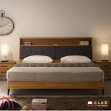 日本直人木業-ANDER柚木6尺雙人加大收納床組