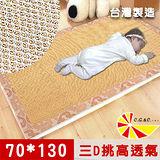 【凱蕾絲帝】台灣製造-加厚挑高御皇三D透氣專利柔藤涼墊-嬰兒蓆(70*130)大