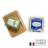 法國法鉑-經典馬賽皂組(棕櫚皂400g+薫衣草皂150g+原木皂盤)