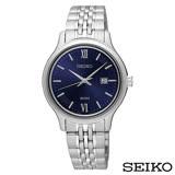 SEIKO精工 Neo Classic古典深藍女士腕錶 SUR709