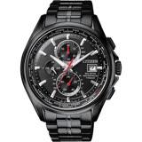 【CITIZEN】星辰 20週年廣告款 光動能電波鈦金屬腕錶-黑/43mm(AT8135-87E)