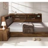 日本直人木業-KELT積層木6尺雙人加大抽屜床組加7尺收納邊櫃