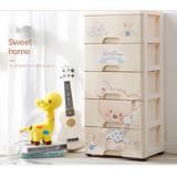 QQBear五層DIY玩具衣物收納櫃-附鎖抽屜