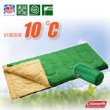 【美國 Coleman】C10 表演者II睡袋10度C.信封型睡袋.輕量化纖睡袋/可機洗.可併接.可當棉被.睡墊/附收納袋/CM-27261 萊姆綠