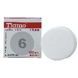 Tiamo 6號丸型圓型濾紙(100枚*12入) HG3021