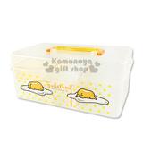〔小禮堂〕蛋黃哥 手提收納箱《小.透明.黃.趴姿.點點》可當珠寶盒或工具盒