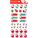 〔小禮堂〕Hello Kitty 標記貼紙《紅.側坐.蘋果.手帳本專用》