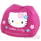 〔小禮堂〕Hello Kitty 安全帽內襯《桃紅.大臉.花朵》防塵衛生避免異味
